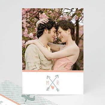 Personaliseerbare trouwkaarten - Cupido pijl - 0