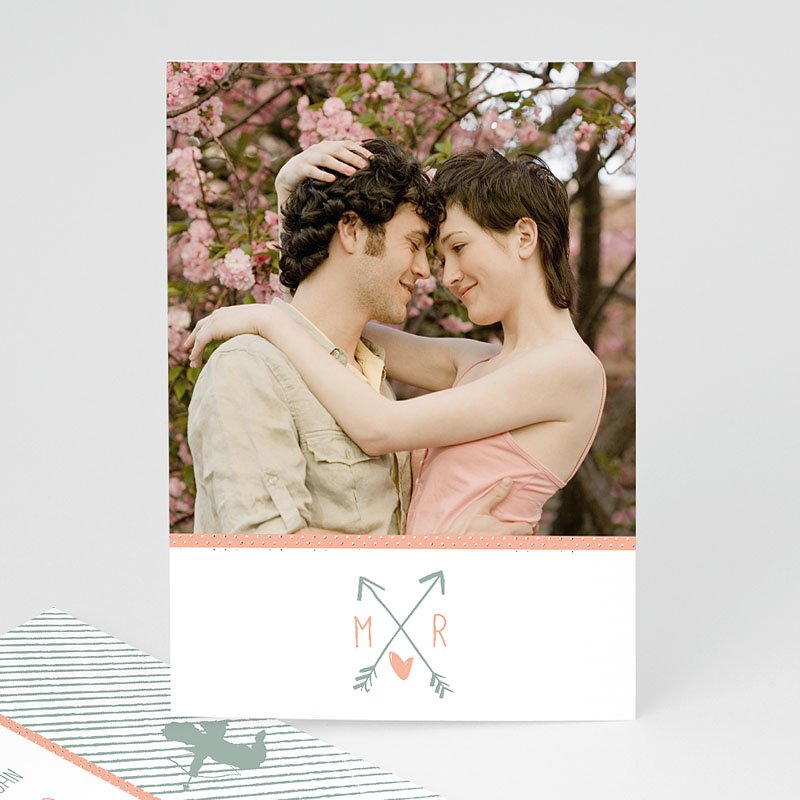 Trouwkaarten met Foto Cupido pijl