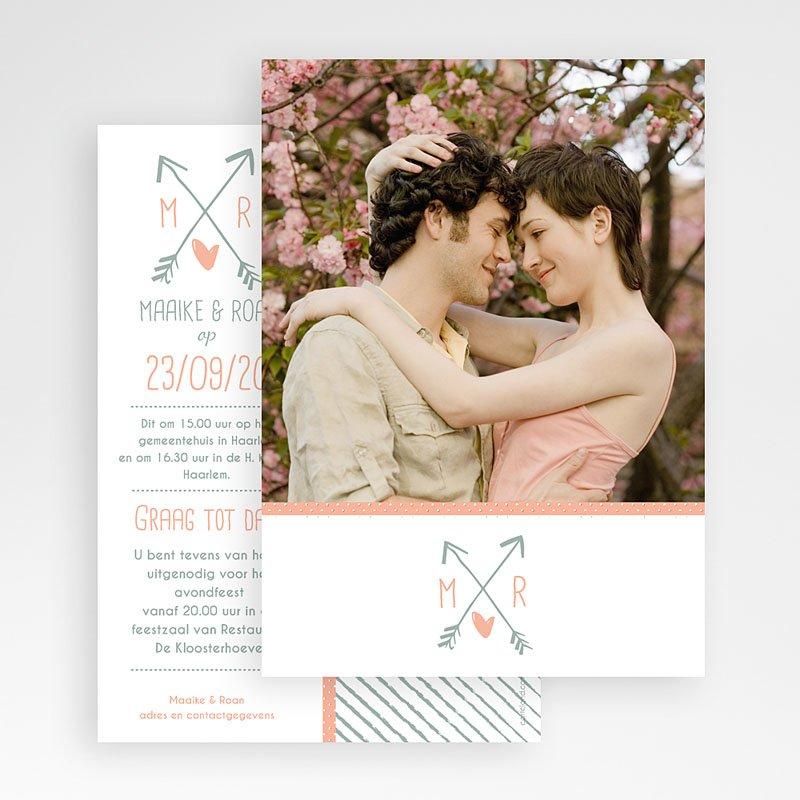 Trouwkaarten met Foto Cupido pijl gratuit