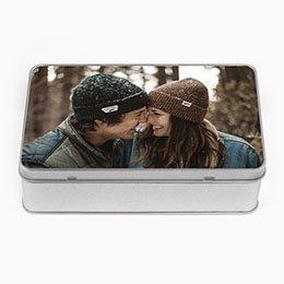Personaliseerbare blikken doosjes Lievelingsfoto