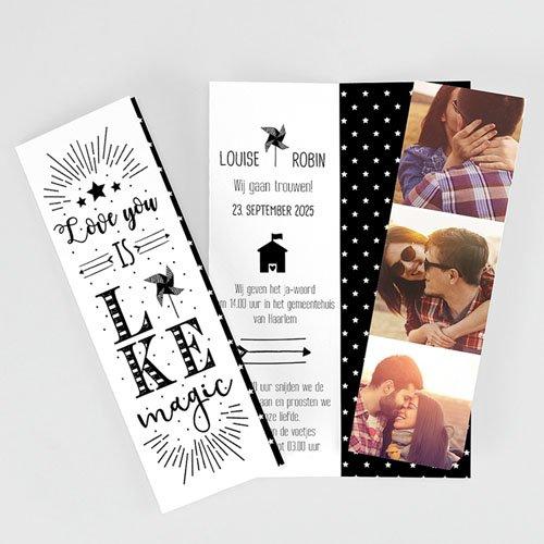 Creatieve trouwkaarten - Magic Love 51888