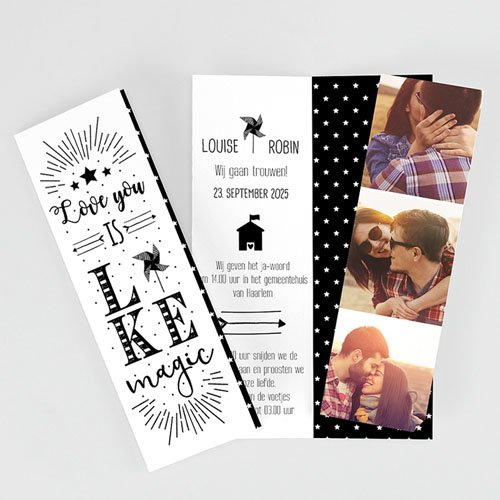 Creatieve trouwkaarten - Magic Love 51888 thumb