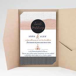 Rechthoekige trouwkaarten - Sweet Wedding Invitation - 0