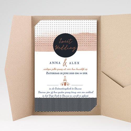 Rechthoekige trouwkaarten - Sweet Wedding Invitation 51903 thumb