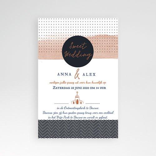 Rechthoekige trouwkaarten - Sweet Wedding Invitation 51906 thumb