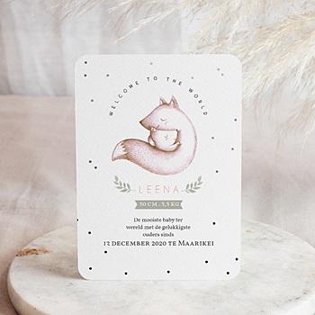 Geboortekaartjes met beesten - Vosje - 0