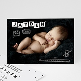 Aankondiging Geboorte Baby's alfabet