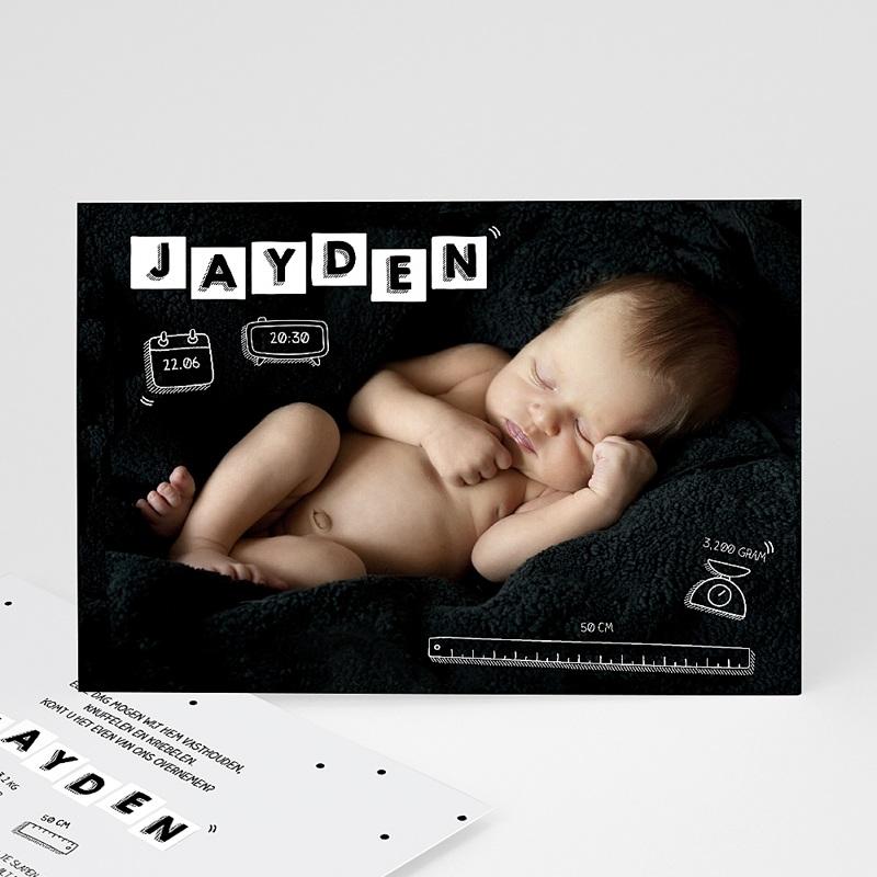 Originele geboortekaartjes - Baby's alfabet 51948 thumb