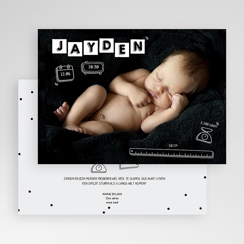 Originele geboortekaartjes - Baby's alfabet 51950 thumb