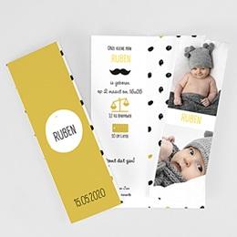 Geboortekaartjes Jongen - Little Gentleman & Moustache