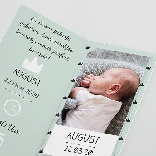 Geboortekaartje jongen - Little King 51976 thumb