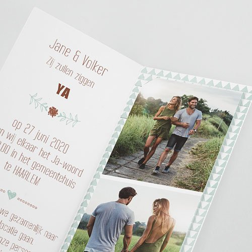 Personaliseerbare trouwkaarten - Wedding Love Triangles 52015 thumb
