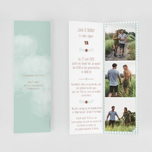 Personaliseerbare trouwkaarten - Wedding Love Triangles 52016 preview