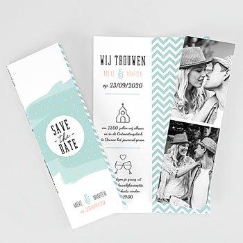 Personaliseerbare trouwkaarten - Moderne Bloemen - 0