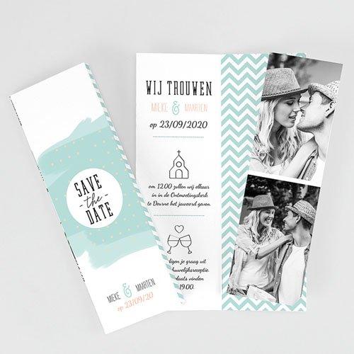 Personaliseerbare trouwkaarten - Moderne Bloemen 52032 thumb