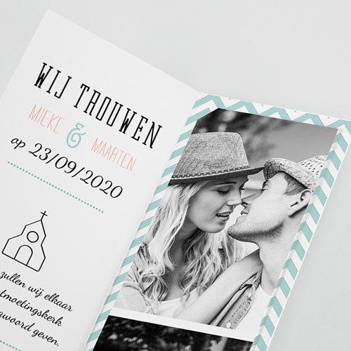Personaliseerbare trouwkaarten - Moderne Bloemen 52033 thumb