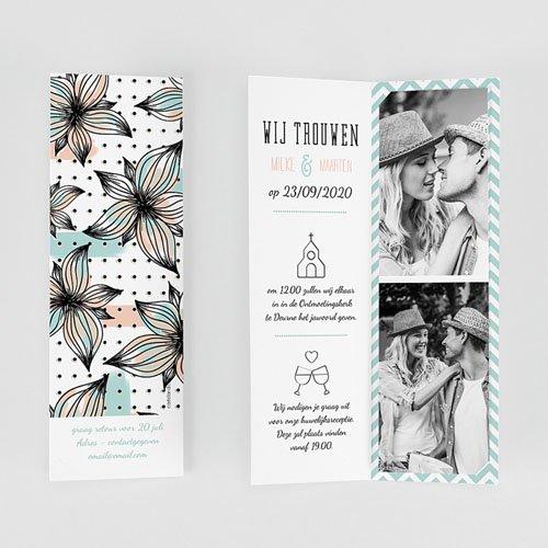 Personaliseerbare trouwkaarten - Moderne Bloemen 52034 thumb