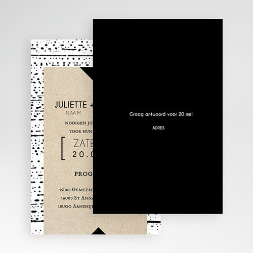 Rechthoekige trouwkaarten - Modern & Tribal 52051 preview