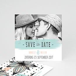 Save the date Huwelijk Moderne Bloemen