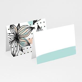Tafelkaartjes huwelijk - Moderne Bloemen - 0