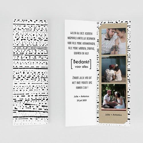 Bedankkaarten huwelijk Modern & Tribal gratuit