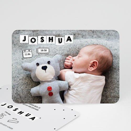 Geboortekaartje jongen - Baby Letters 52144
