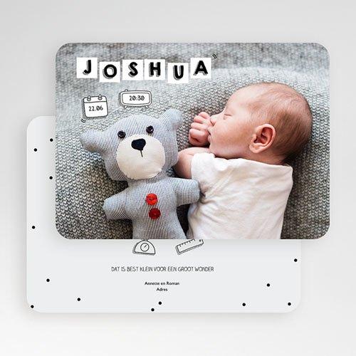 Geboortekaartje jongen - Baby Letters 52146 thumb