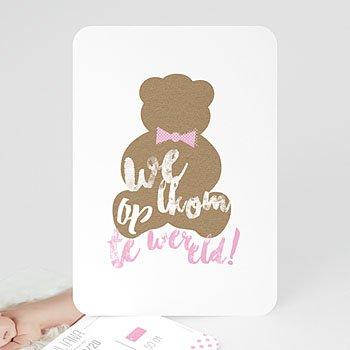 Geboortekaartje meisje - Teddy bear Girl - 0