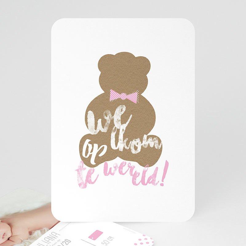 Geboortekaartje meisje - Teddy bear Girl 52162 thumb