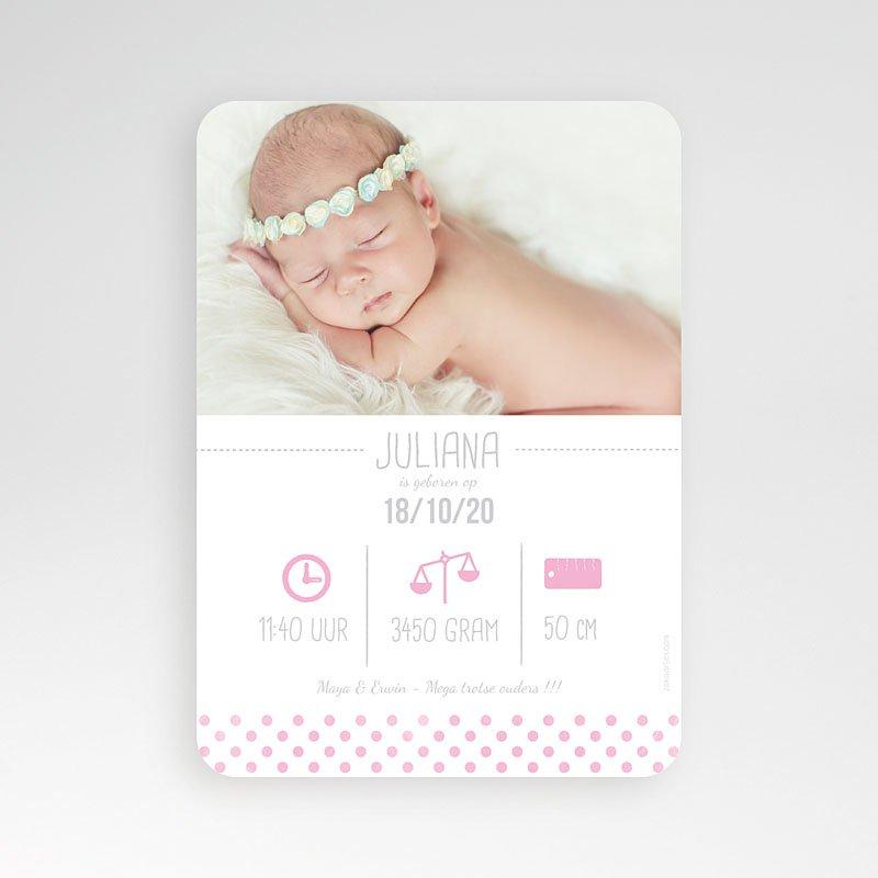 Geboortekaartje meisje - Teddy bear Girl 52163 thumb