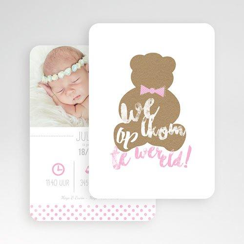 Geboortekaartje meisje - Teddy bear Girl 52164 thumb