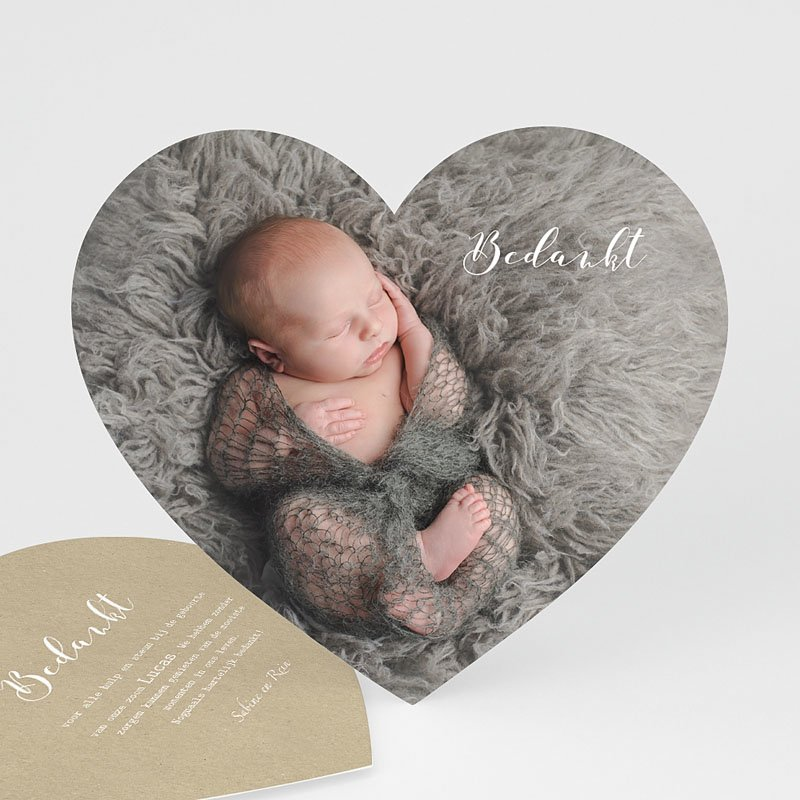 Bedankkaartje geboorte zoon - Dank u wel 52175 thumb