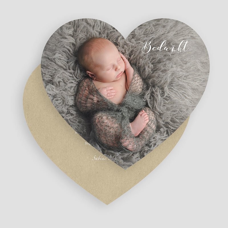 Bedankkaartje geboorte zoon - Dank u wel 52177 thumb