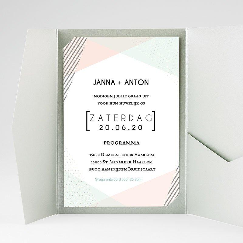 Rechthoekige trouwkaarten Modieuze Uitnodiging gratuit