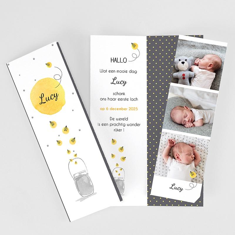 Geboortekaartjes met foto Lucy