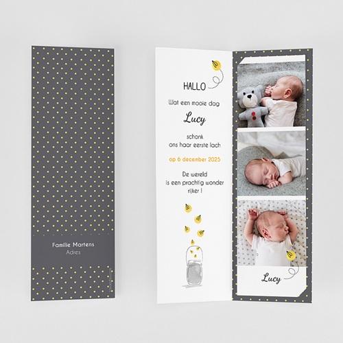 Geboortekaartjes met foto Lucy gratuit