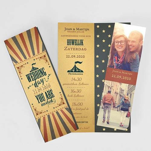 Personaliseerbare trouwkaarten - Kermis 52321 thumb