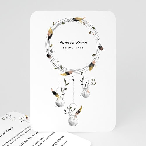 Personaliseerbare trouwkaarten - Dromenvanger 52345