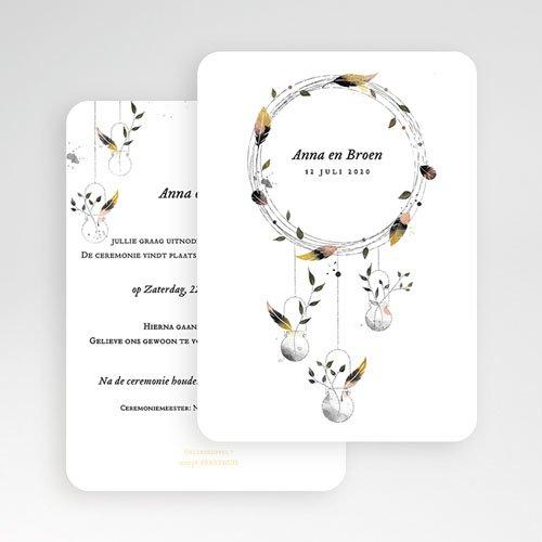 Personaliseerbare trouwkaarten - Dromenvanger 52347 preview