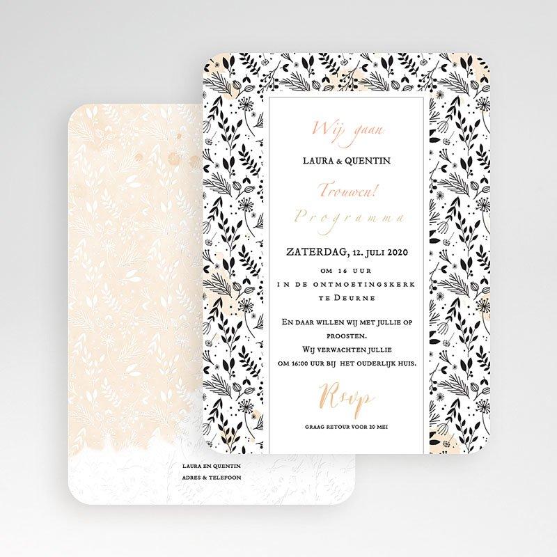 Chique trouwkaarten - Lovely Flowers 52356 thumb