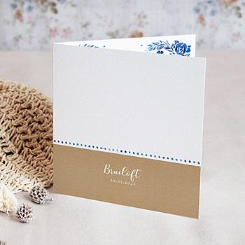 Landelijke trouwkaarten - Zomer blauw - 0
