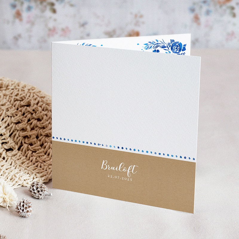 Landelijke trouwkaarten Zomer blauw
