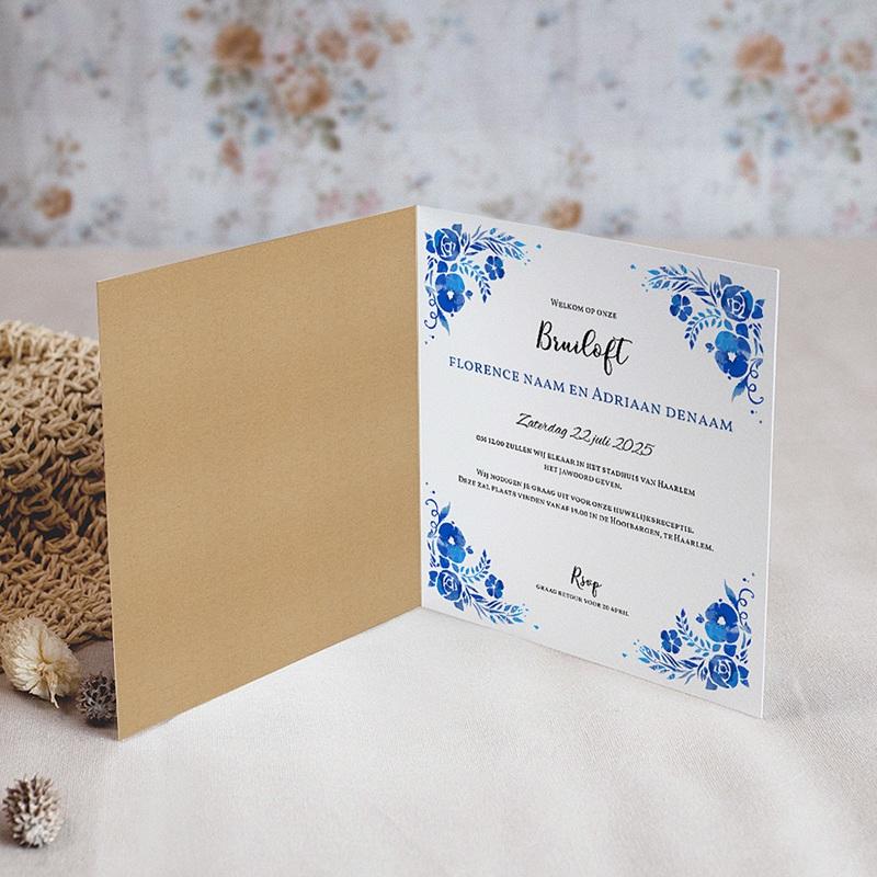 Landelijke trouwkaarten Zomer blauw pas cher