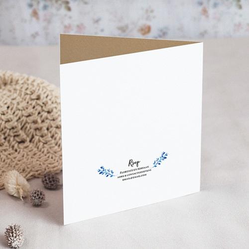 Landelijke trouwkaarten Zomer blauw gratuit