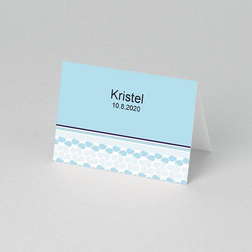 Plaatskaartjes doopviering - Hemels blauw 52490 thumb