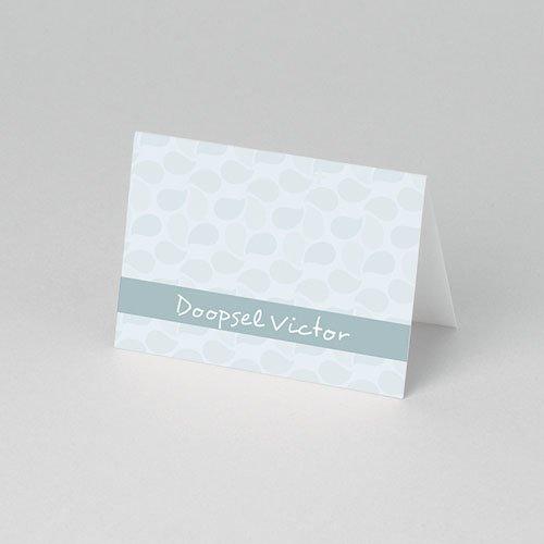 Tafelkaartjes Doop Doop met blauw pas cher