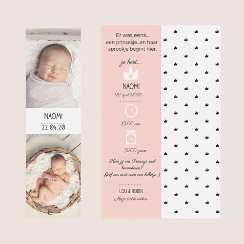 Geboortekaartje meisje - Mooie prinses 52530 thumb