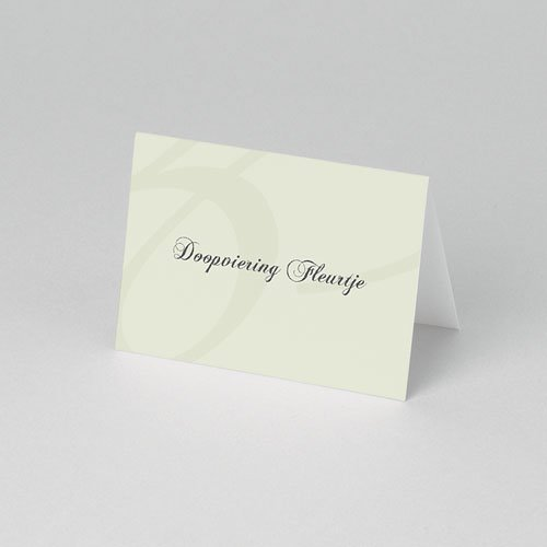 Tafelkaartjes Doop Drieluik met doopviering pas cher