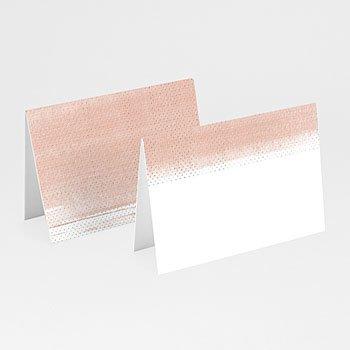 Tafelkaartjes huwelijk - Roze en Hout - 0