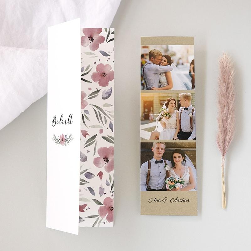 Bedankkaarten huwelijk Heerlijk romantisch